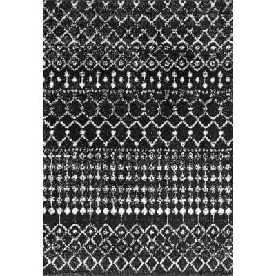 Moroccan Barbara Black 8 ft. x 10 ft. Area Rug