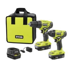 18-Volt ONE+ Lithium-Ion Cordless 2-Tool Combo Kit w/ Drill/Driver, Impact Driver, (2) 1.5 Ah Batteries, Charger and Bag