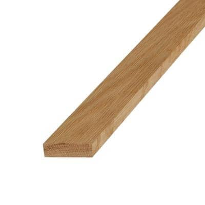 S4S Untreated Oak Board (Common: 1 in. x 2 in. x 8 ft.; Actual: 0.75 in. x 1.5 in. x 8 ft.)