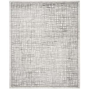 Adirondack Silver/Ivory 8 ft. x 10 ft. Area Rug
