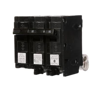 80 Amp Double-Pole Type QP Circuit Breaker with 120-Volt Shunt Trip