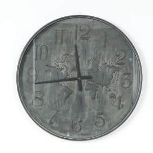 27.95 in. Around the World Metal Wall Clock