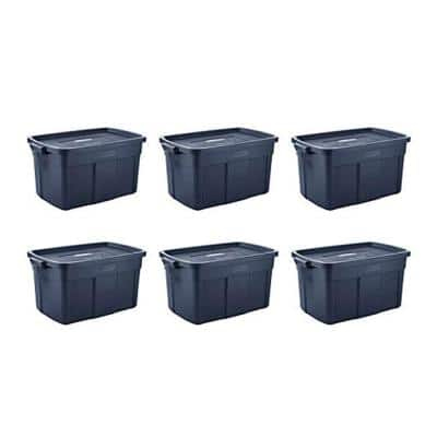 Roughneck 31-Gal. Rugged Stackable Storage Tote Container (6-Pack)