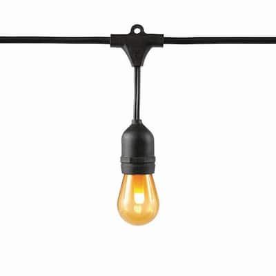 Indoor/Outdoor 12 ft. Plug-In 6-Socket S14 Mini Bulb LED Flame Effect String Light (4-Pack)