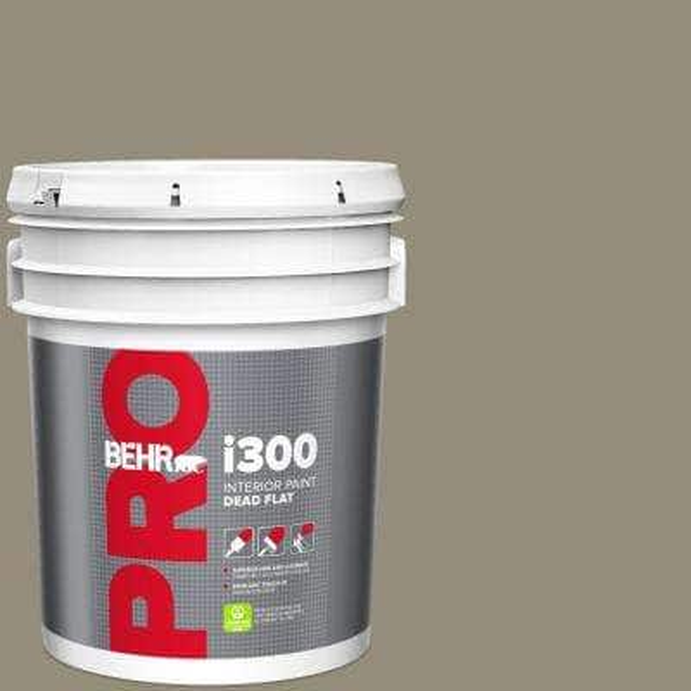 Behr Pro 5 Gal 770d 5 Carriage Door Dead Flat Interior Paint Pr31305 The Home Depot