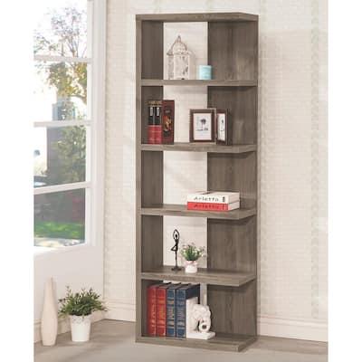 Kellar Weathered Grey Bookshelf