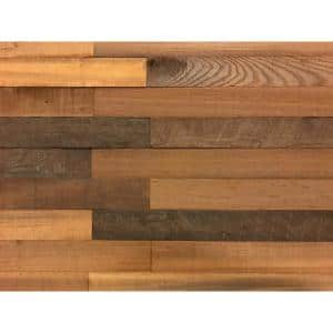 1/4 in. x 3 in. x 2 ft. Brown Reclaimed Smart Paneling 3D Barn Wood Wall Plank (Design 1) (20-Case)