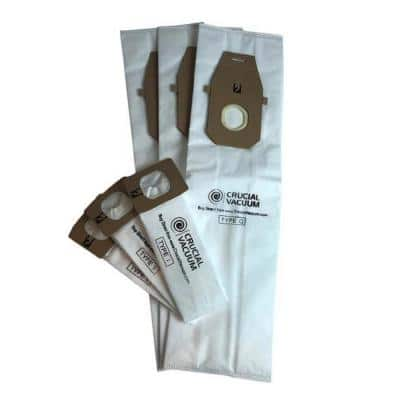Q and 3I Vacuum Bags Replacement for Hoover Compatible with Part AH10000 and AH10005 (3-Pack)