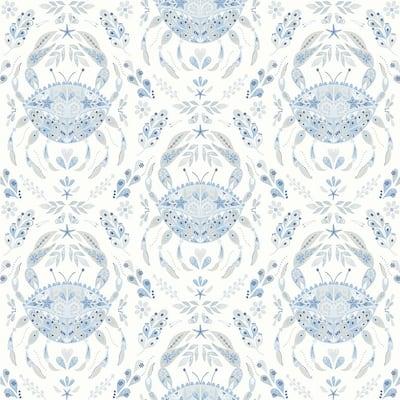 Annapolis Light Blue Crustation Blue Wallpaper Sample
