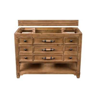 Malibu 48 in. W x 33 in. H Single Vanity Cabinet Only in Honey Adler with Antique Iron Hardware