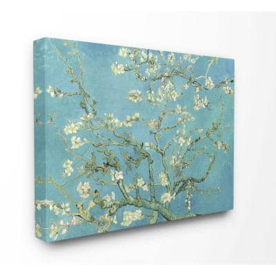 """36 in. x 48 in. """"Van Gogh Almond Blossoms Post Impressionist Painting"""" by Vincent Van Gogh Canvas Wall Art"""