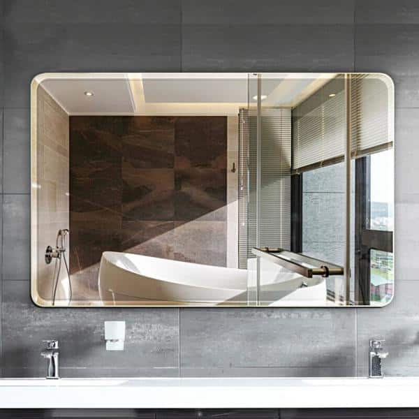 Ello Allo 30 In W X 36 In L Single Frameless Bathroom Wall Mirror Evm S 30 The Home Depot