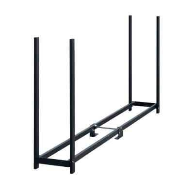 8 ft. W x 4 ft. H x 1 ft. D Ultra-Duty, High-Grade Steel Firewood Rack with Premium Wood Rack and Reinforced Spacers