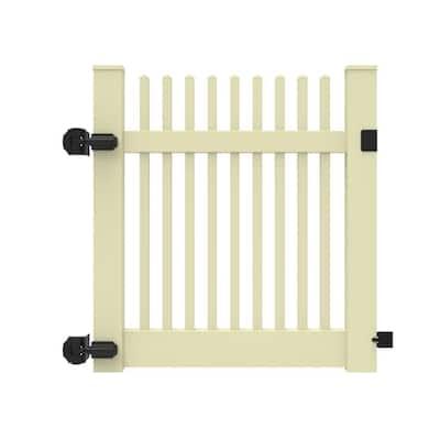 Yukon Straight 4 ft. W x 4 ft. H Sand Vinyl Un-Assembled Fence Gate