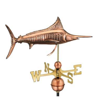 Marlin Weathervane - Pure Copper