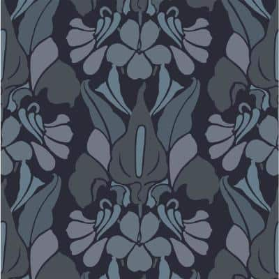 Dragon Flower Fabric Peelable Wallpaper (Covers 36 sq. ft.)