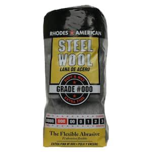 Extra Fine Grade Steel Wool #000 (12-Pad)