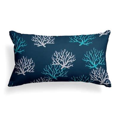Reef Royal Lumbar Outdoor Throw Pillow