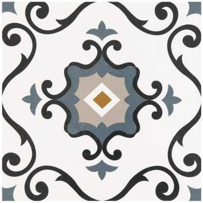 Retro Slate 12 in. x 12 in. Self-Adhesive Vinyl Floor Tile (20 Tiles/20 sq. ft.)