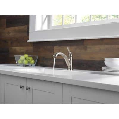 Grant Single-Handle Pull-Out Sprayer Kitchen Faucet In Stainless