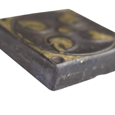 Padova Laton Bronze 1-5/8 in. x 1-5/8 in. Metal Floor and Wall Tile