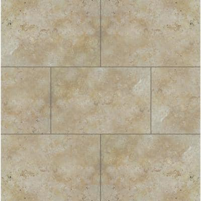 Riviera 24 in. x 16 in. x 1.18 in. RectangleTumbled Travertine Paver Tile (2.67 sq. ft.)