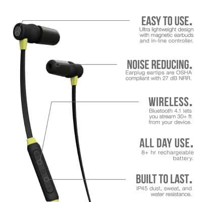 XTRA Bluetooth Hearing Protection Earbuds, 27 dB Noise Reduction Rating, OSHA Compliant Ear Protection for Work