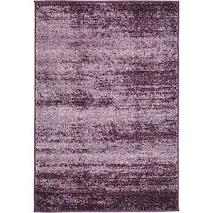 Del Mar Lucille Violet 2 ft. x 3 ft. Accent Rug