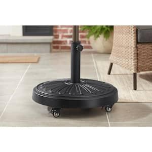 50 lbs. Concrete and Resin Patio Umbrella Base in Black
