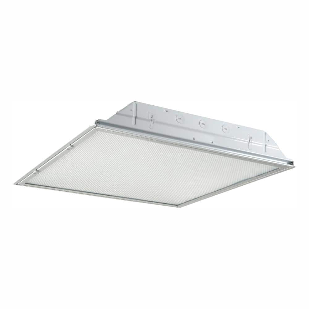 Metalux 2 Ft X 2 Ft White Integrated Led Drop Ceiling Troffer Light With 2400 Lumens 4000k 22grld2440r1 The Home Depot