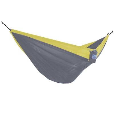 10 ft. Parachute Double Hammock in Grey/ Yellow