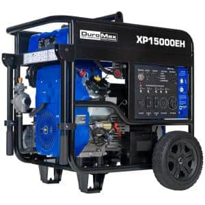 12500-Watt Electric Start Gasoline/Propane Powered Dual Fuel Portable Generator with Twin Engine