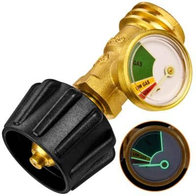 Propane Gas Meter Gauge Level Indicator with Glow-in-the-Dark Dial
