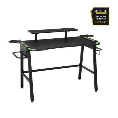 53 in. Rectangular Green Computer Desk with Shelf