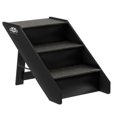 Dark Grey 3-Step Folding Pet Stairs
