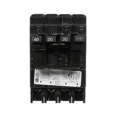 40/20 Amp Double-Pole Type MH-T Quad Plug-In Circuit Breaker
