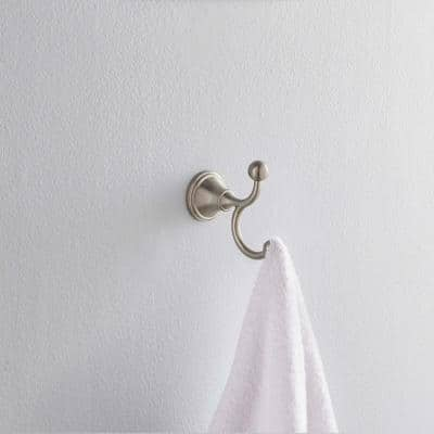 Crestfield Double Towel Hook in Brushed Nickel