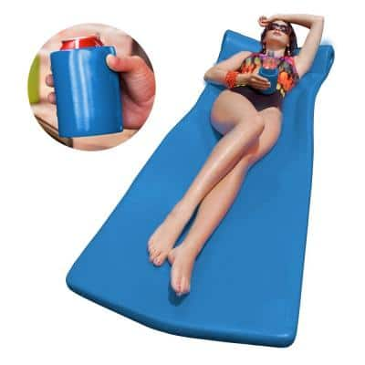 XX-Large Foam Mattress with Bonus Koozie Blue Pool Float