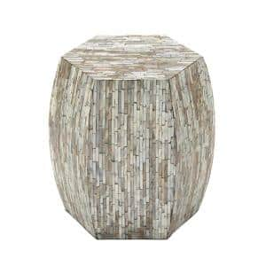 Deals on Litton Lane 16-in Mother of Pearl Contemporary Accent Table