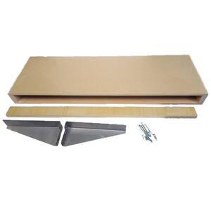 10 in. x 48 in. x 2-1/2 in. Maple Wood Floating Wall Shelf