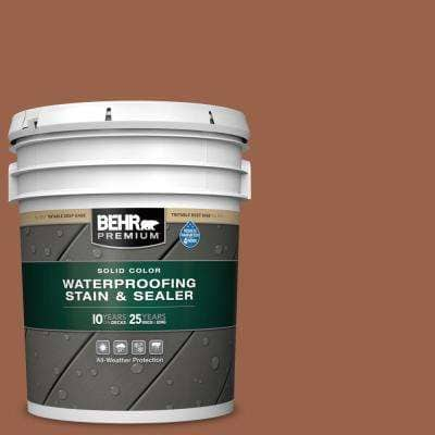 5 gal. #SC-122 Redwood Naturaltone Solid Color Waterproofing Exterior Wood Stain and Sealer