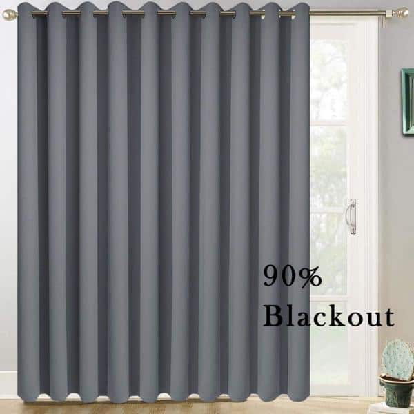 Pro Space Dark Grey Outdoor Thermal, 100 Inch Wide Curtains