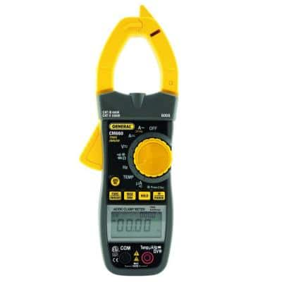 Heavy Duty Auto Ranging True RMS AC/DC Clamp Meter with NCV Detection