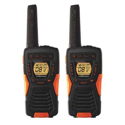 37-Mile Range Rugged and Floating 2-Way Radio with Rewind