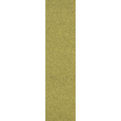 Peel and Stick Goldenrod Accent Planks 9 in. x 36 in. Commercial/Residential Carpet (8-tile / case)