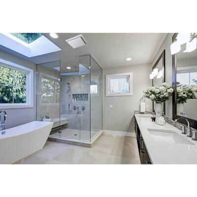 Quiet Adjustable 50-80-110 CFM Energy Star Bathroom Ventilation Fan 0.4 Sones Fits 2 in. x 4 in. Joists White