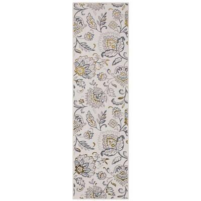 Paladium Beige 2 ft. x 7 ft. Floral Runner Rug