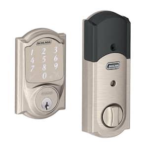 Camelot Satin Nickel Sense Smart Door Lock