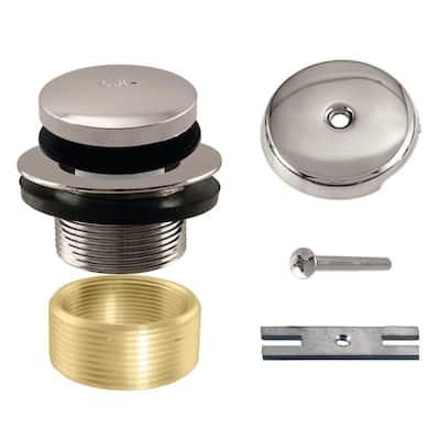 Universal Tip-Toe Tub Drain Trim Kit in Polished Nickel