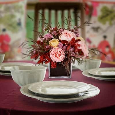Ultra 12-Piece Casual Taupe Ceramic Dinnerware Set (Service for 4)